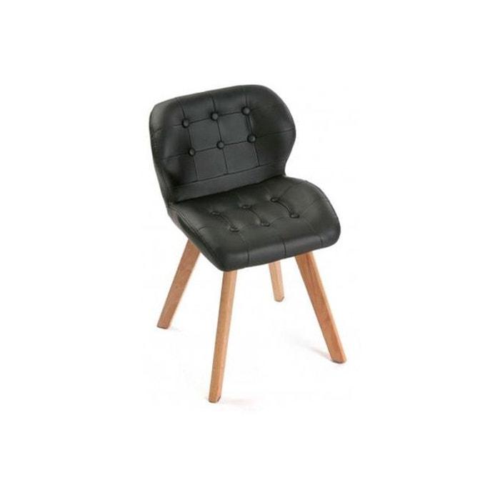 Chaise Style Scandinave Noire Letona Noir Versa