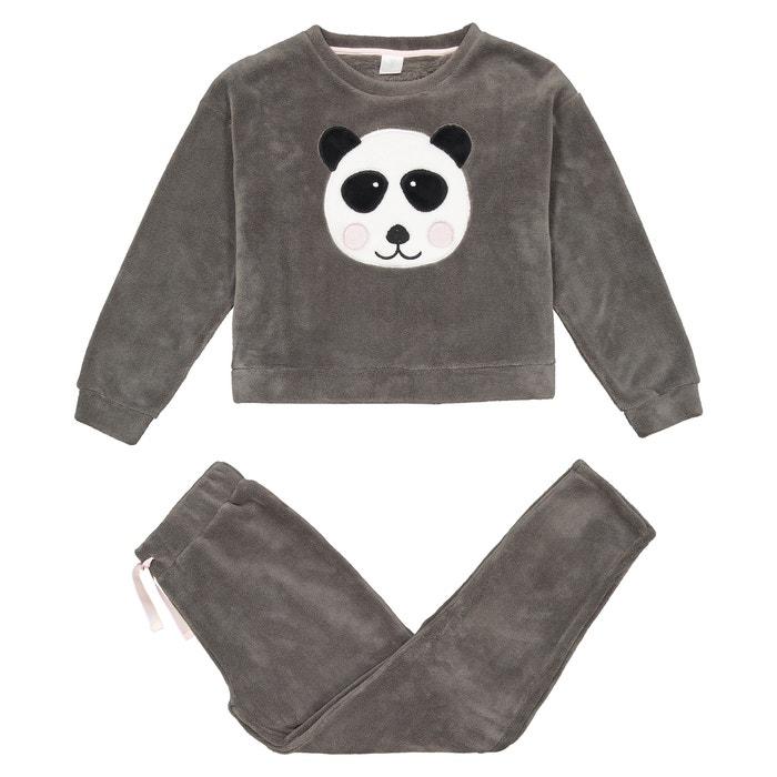"""Warme pyjama """"panda motief""""10-18 jaar  LA REDOUTE COLLECTIONS image 0"""