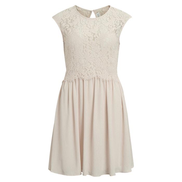 Wijd uitlopende jurk zonder mouwen in knielengte  VILA image 0