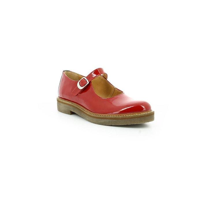 Babies cuir vernis femme oxitane vernis rouge Kickers