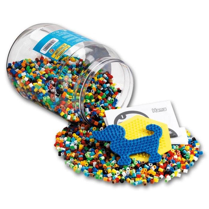 Baril De 7000 Perles Hama Midi Et Deux Petites Plaques Chien Et