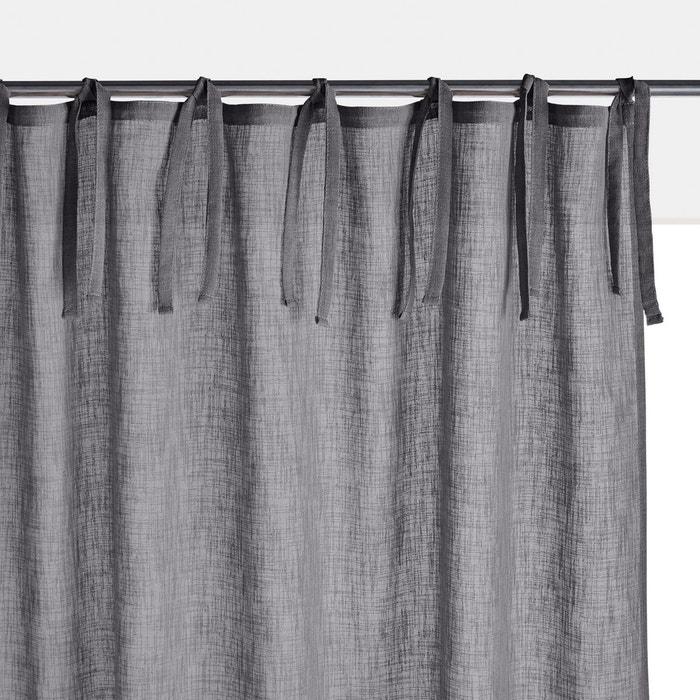 voilage uni effet lin nyong la redoute interieurs la redoute. Black Bedroom Furniture Sets. Home Design Ideas
