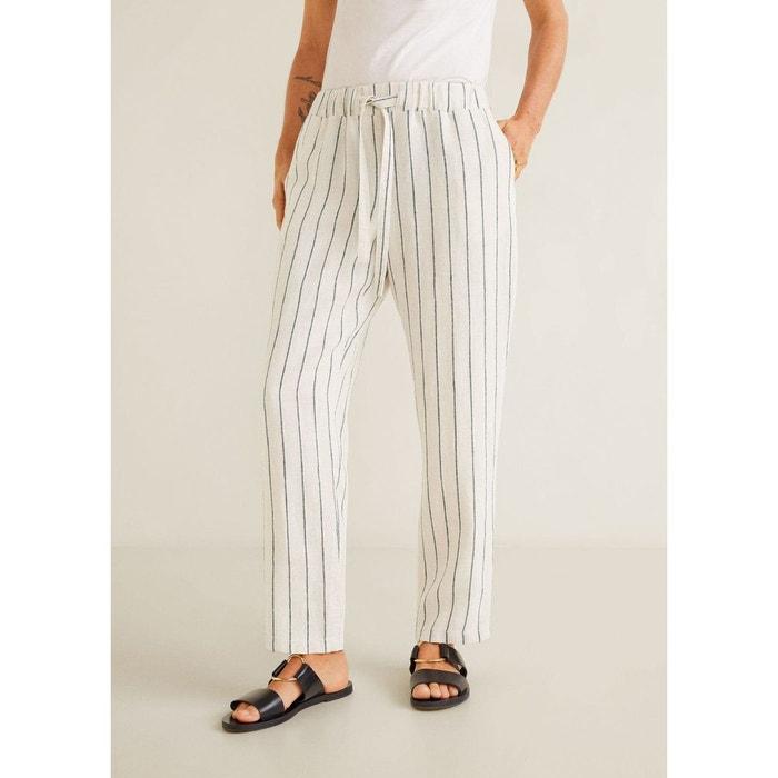 c9caf28c0282 Pantalon droit lin Mango