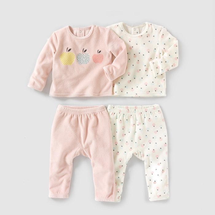 Image Pyjama 2 pièces velours 0 mois-3 ans (lot de 2) R mini