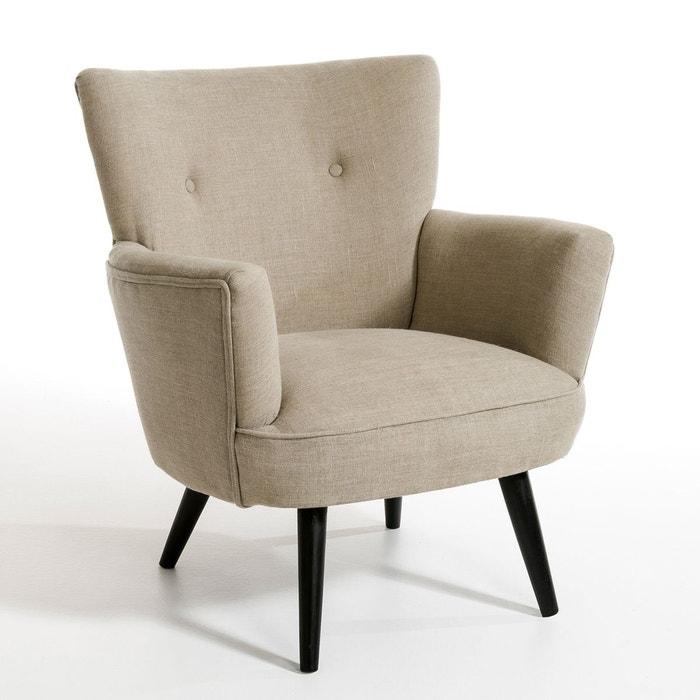 fauteuil wiliam tissu pur lin lin naturel am pm la redoute. Black Bedroom Furniture Sets. Home Design Ideas
