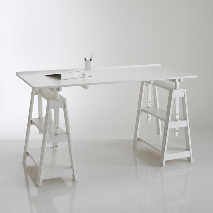 escritorio de caballetes en pino macizo jimi la redoute interieurs