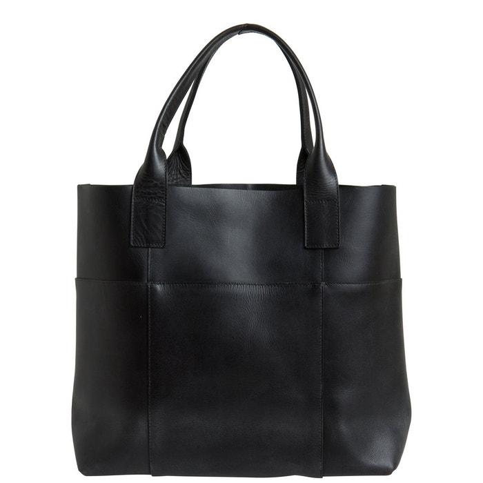 Sac porté épaule cuir black Pieces | La Redoute Visitez En Ligne Livraison Gratuite Le Meilleur sZ8wvl