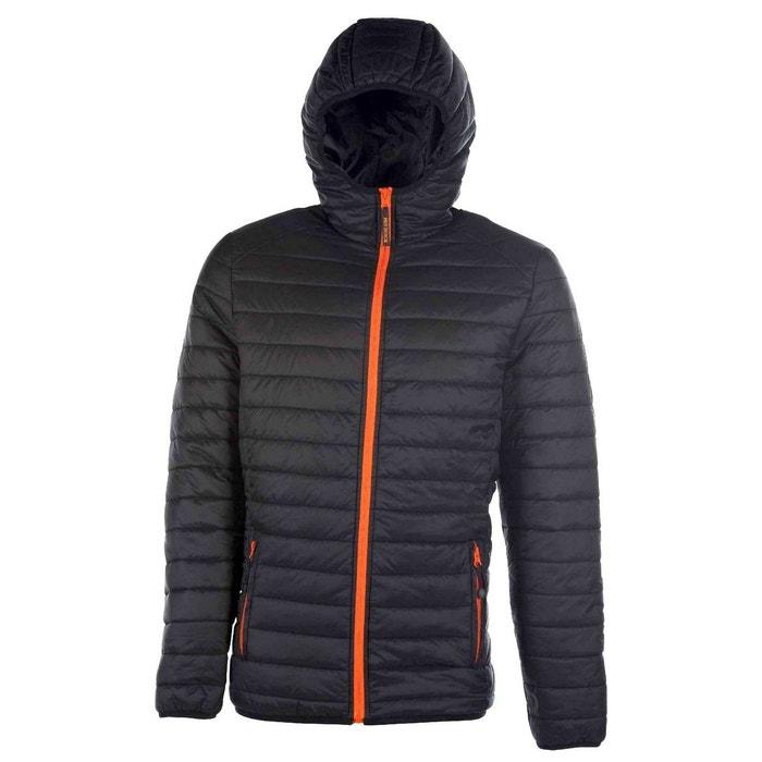 Doudoune legere avec capuche noir Fashion Cuir   La Redoute 20891ba5960f