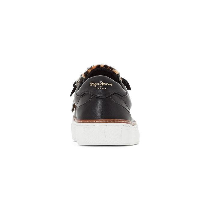 Baskets adams fringe noir Pepe Jeans