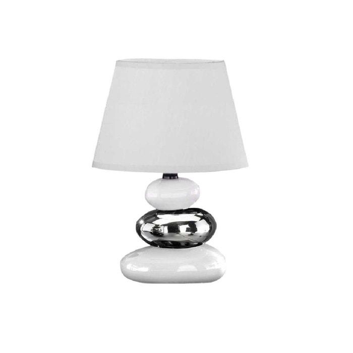 Lampe Galet Rocco Tres Blanche En Ceramique Blanc Keria La Redoute