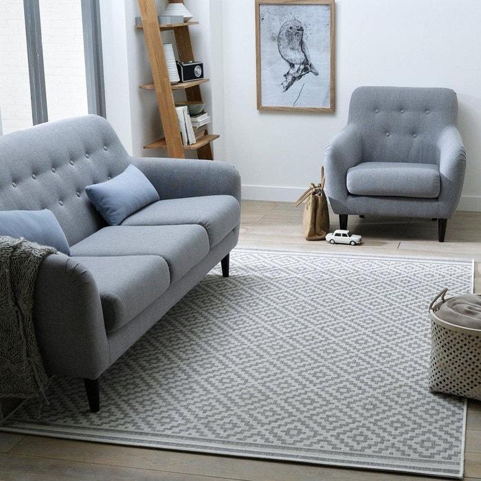 Akar Flat Woven Rug with Geometric Print