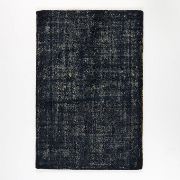 Eberling Two-Tone Blue/Grey Wool Rug