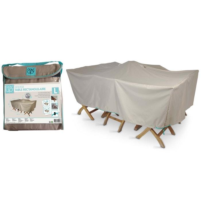Housse table de jardin 200 x 130 cm, cov\'up taupe Oviala | La Redoute