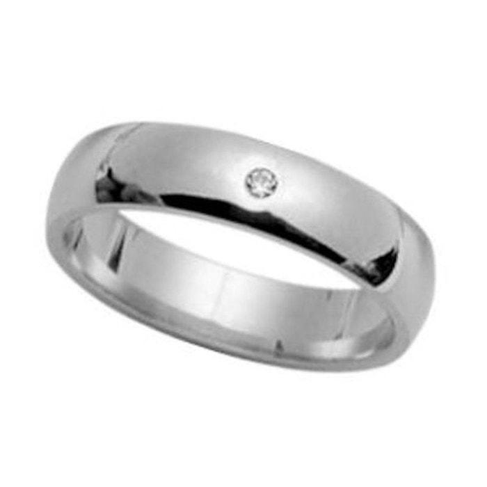 Bague alliance anneau joaillerie 5 mm diamant blanc argent 925 couleur unique So Chic Bijoux | La Redoute Moins Cher 9U8cOGKDB