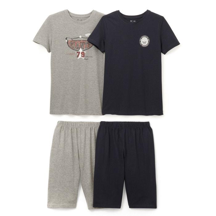afbeelding Bedrukte pyjashort (set van 2) La Redoute Collections