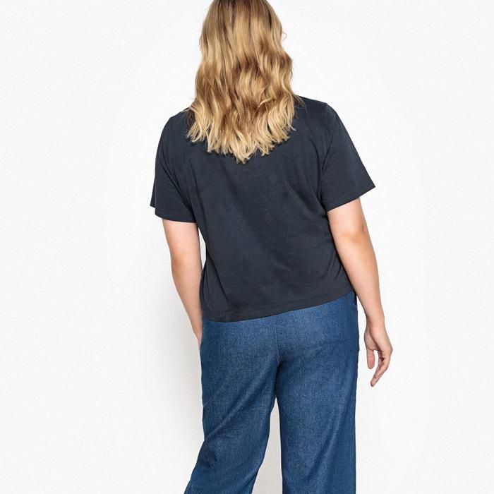CASTALUNA Camiseta corta cuello con manga corta estampada redondo pr8qxp6R