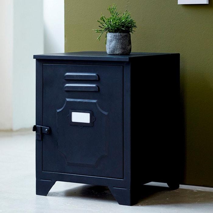 Chevet casier en métal style industriel métal noir Tikamoon | La Redoute