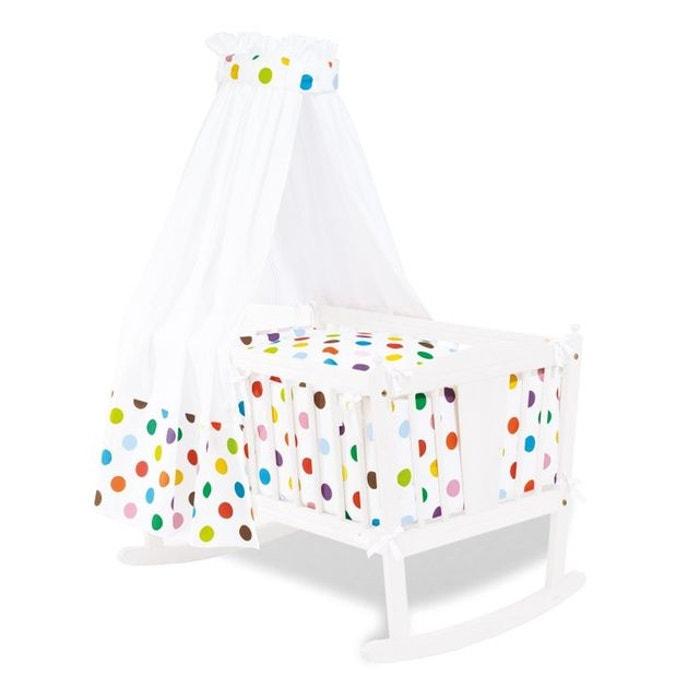 ensemble textile lit berceau pinolino dots pois couleurs pinolino couleur unique pinolino la. Black Bedroom Furniture Sets. Home Design Ideas