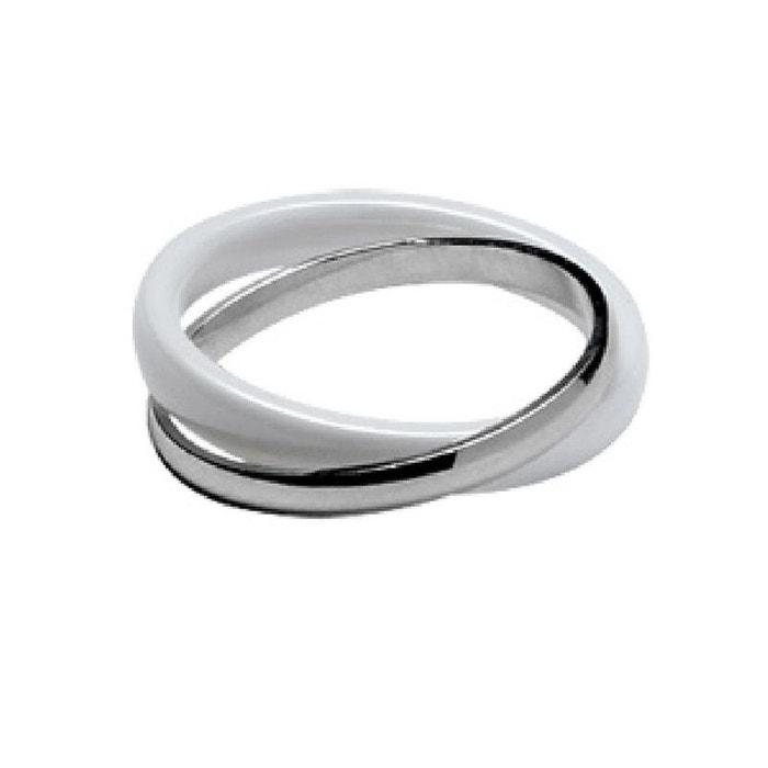 Bague alliance 2 anneaux liés céramique blanche argent 925 couleur unique So Chic Bijoux | La Redoute Offres À Vendre Offres En Ligne 64SLjI19