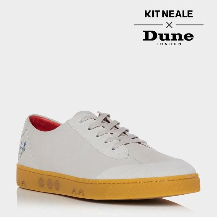 Baskets à lacets avec semelle en gomme kit neale - tetra  écru nubuck Dune London  La Redoute