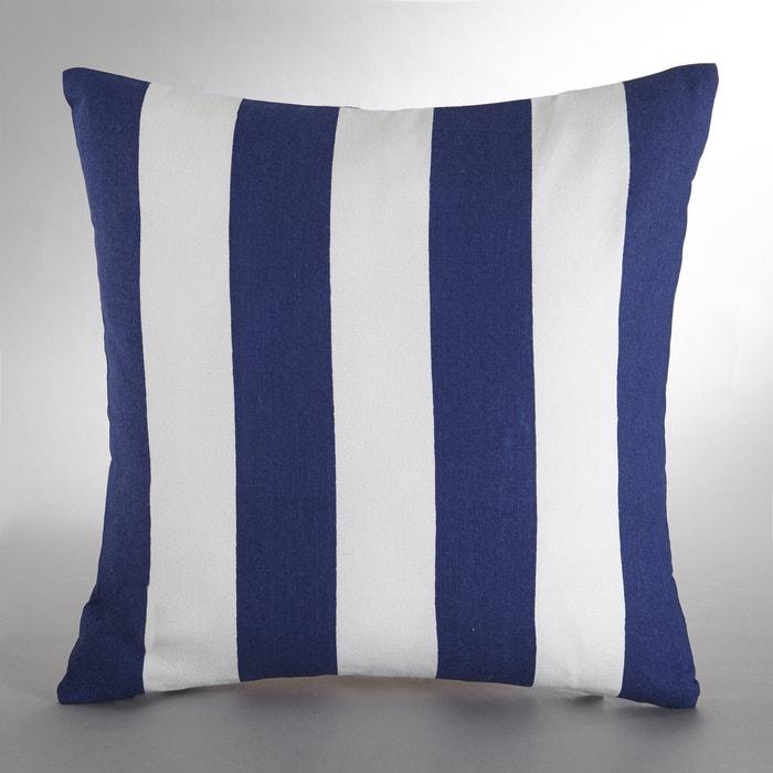 Housse de coussin yott bleu blanc la redoute interieurs - Housse de fauteuil la redoute ...