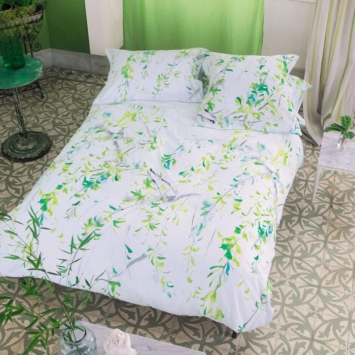 housse de couette willow en satin de coton acacia vert. Black Bedroom Furniture Sets. Home Design Ideas