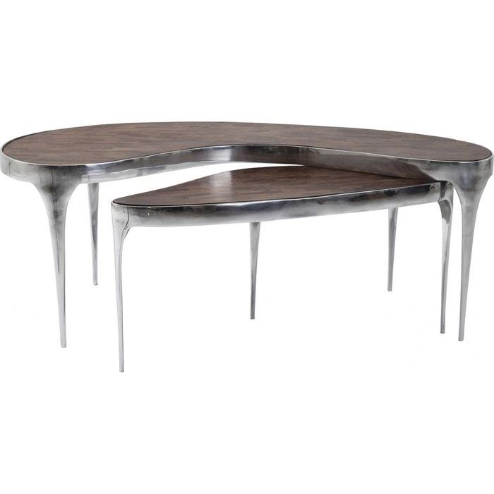 tables basses design have a break set de 2 kare design couleur unique kare design la redoute. Black Bedroom Furniture Sets. Home Design Ideas