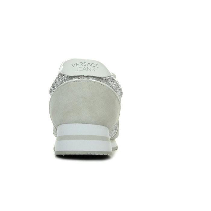 Baskets linea fondo stella dis1 suede coated shiny textile argent Versace    La Redoute 08d98a76f0f