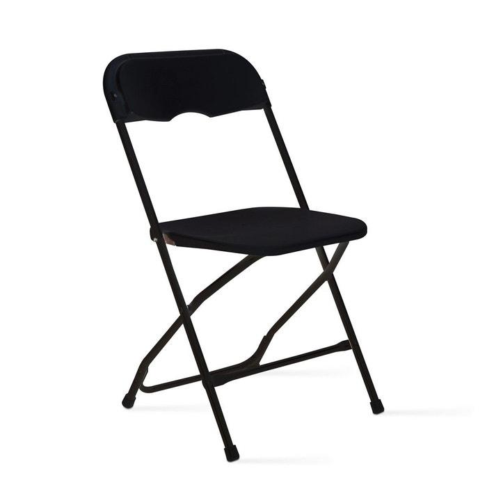 Chaise Pliante Noire En Plastique MOBEVENTPRO Image 0