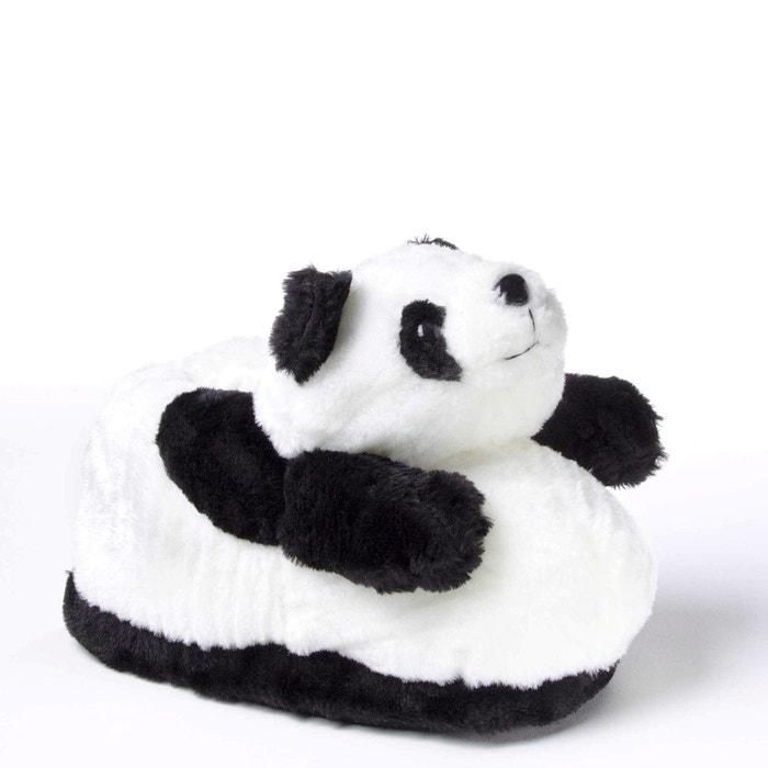 Chaussons animaux peluche femme - panda blanc Sleeperz