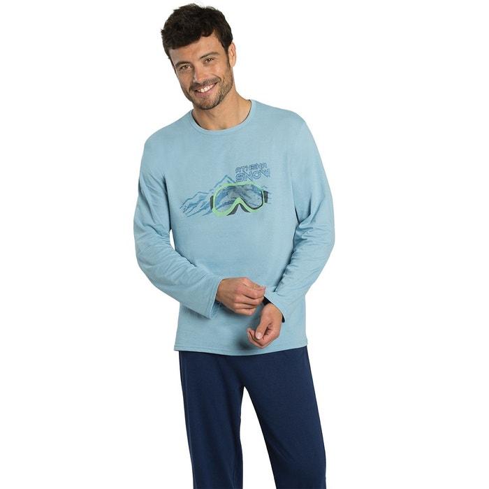 pyjama long homme eco pack bleu glacier bleu nuit athena la redoute. Black Bedroom Furniture Sets. Home Design Ideas