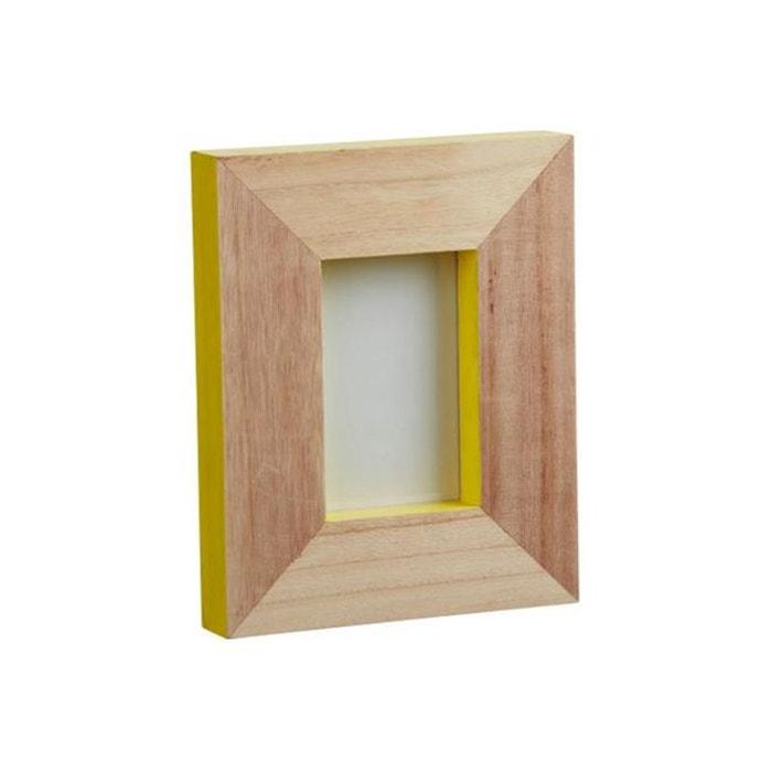 cadre photo en bois pomax jaune 20 5x4x25 5 boitephoto. Black Bedroom Furniture Sets. Home Design Ideas