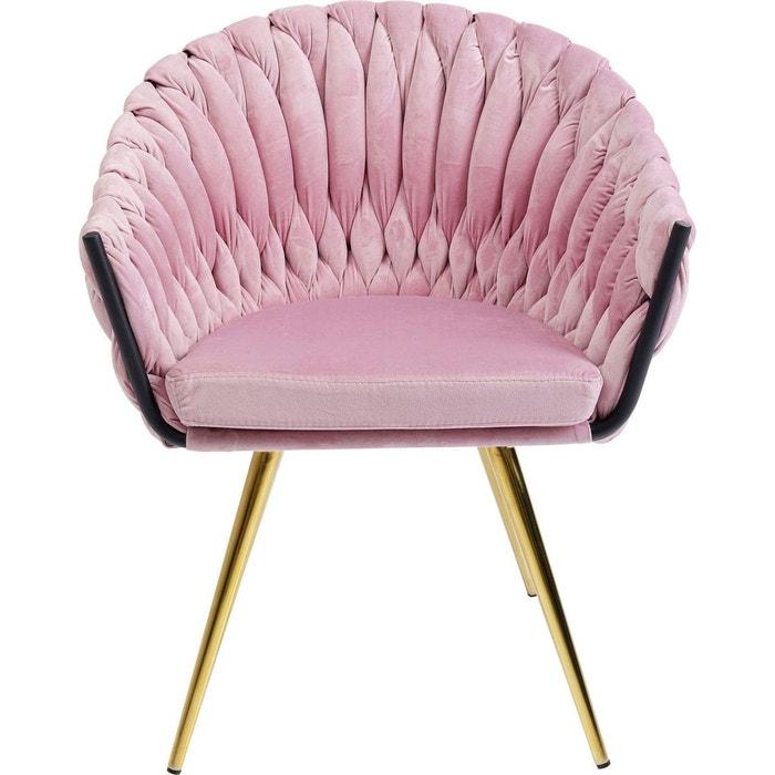 Chaise Avec Accoudoirs Knot Velours