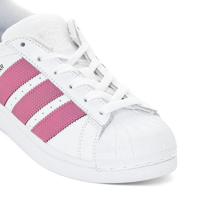 adidas superstar j wit roze