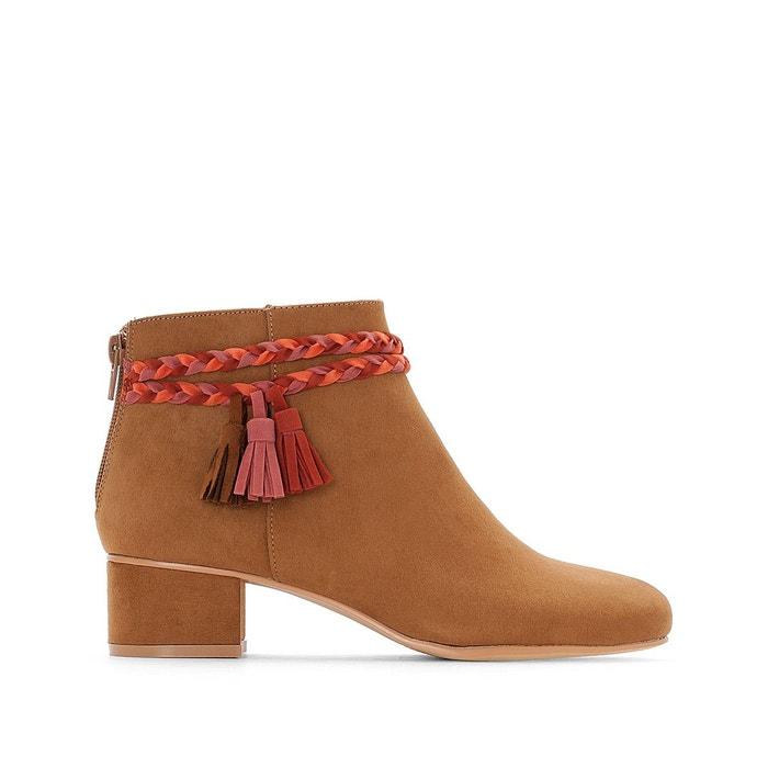 Boots détail tresse  La Redoute Collections image 0