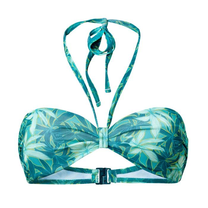 afbeelding Bedrukt bikini bovenstuk in bandeau model La Redoute Collections