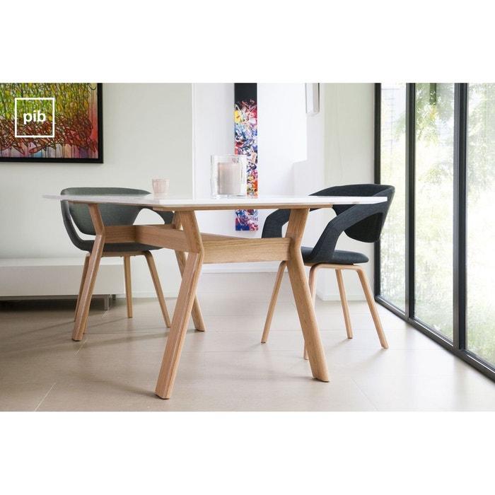 table scandinave augst blanc produit interieur brut la redoute. Black Bedroom Furniture Sets. Home Design Ideas