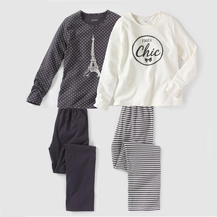 2er-Pack Pyjamas, bedruckt, 10-16 Jahre  La Redoute Collections image 0