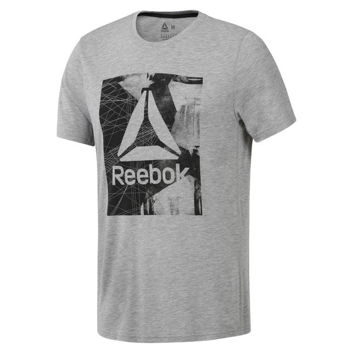 T-shirt scollo rotondo maniche corte fantasia davanti  REEBOK image 0