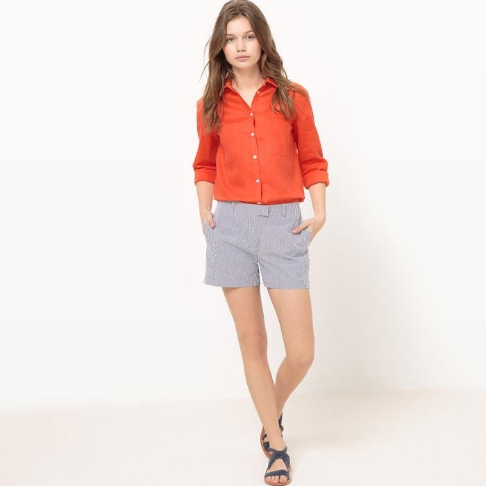 afbeelding Hemd in linnen met 2 zakken La Redoute Collections