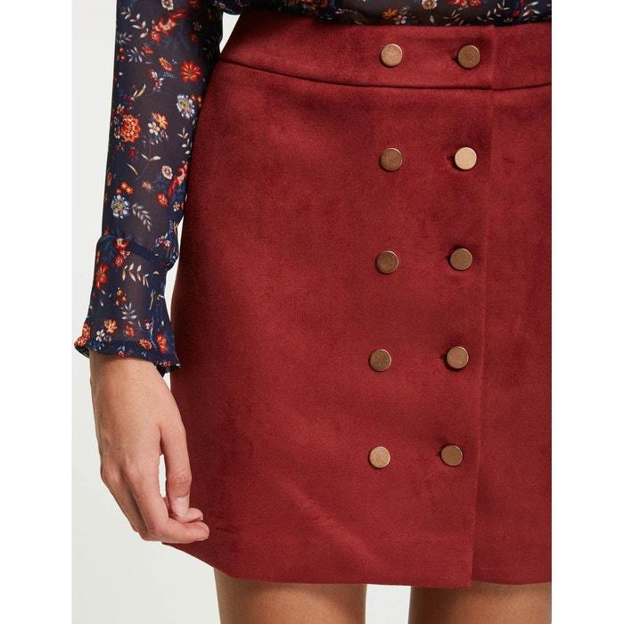 Mini jupe trapèze en suédine MORGAN