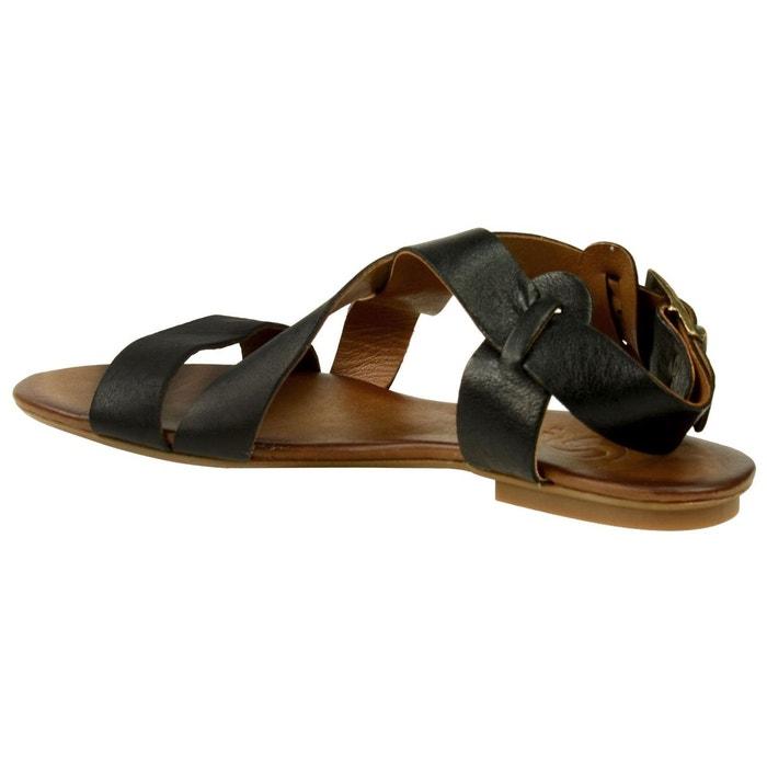 Sandales femme noir noir Sacha