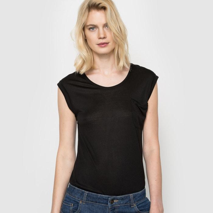 Image T-shirt col rond, viscose fluide R essentiel
