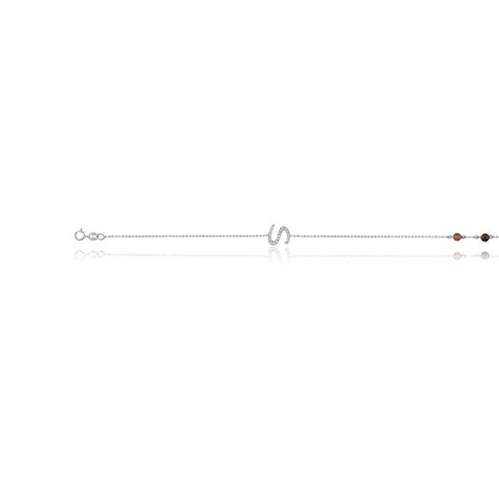 Bracelet or 375/1000 diamant blanc Cleor | La Redoute Prix Pas Cher De Pré-commande jOHXDaHqbk