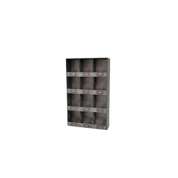 tag re murale 12 casiers en zinc gris wadiga la redoute. Black Bedroom Furniture Sets. Home Design Ideas