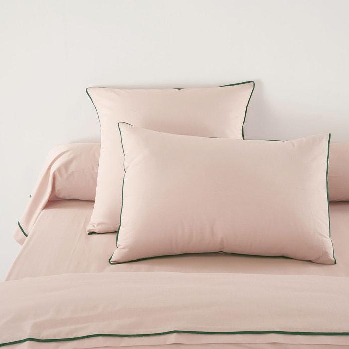 Taie oreiller ou traversin percale duo la redoute for Linge de maison cambrai
