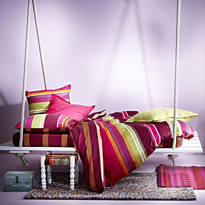 housse de couette affinit en satin de coton multicolore multicolore essix la redoute. Black Bedroom Furniture Sets. Home Design Ideas