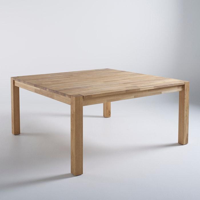 Adelita square solid oak 8 seater table oak la redoute - Table cuisine la redoute ...