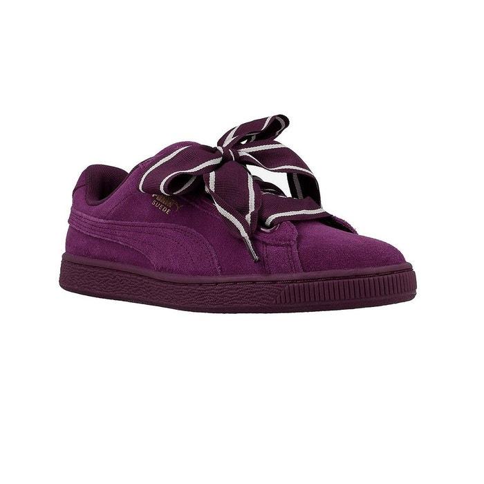 Basket puma suede heart satin ii - 364084-02 violet Puma