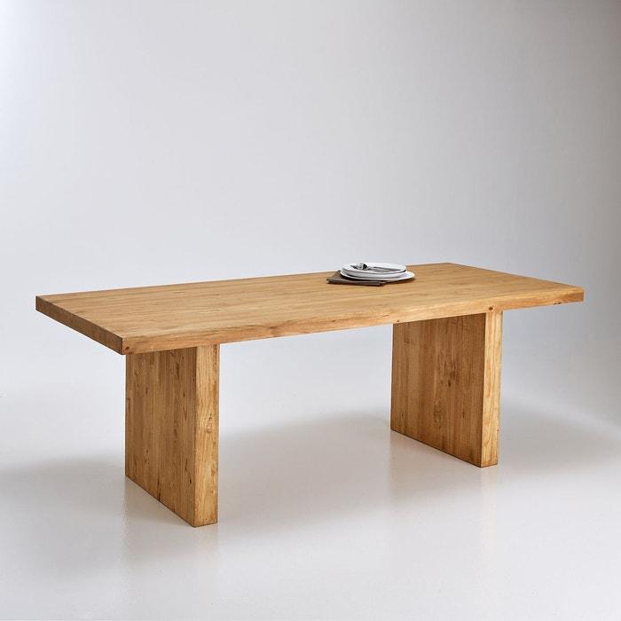 Table fixe rectangulaire 6 8 couverts malu pin cir la - La redoute table salle a manger ...